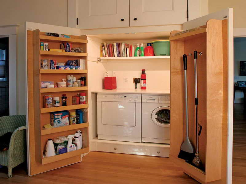 small laundry room storage solutions on a budget