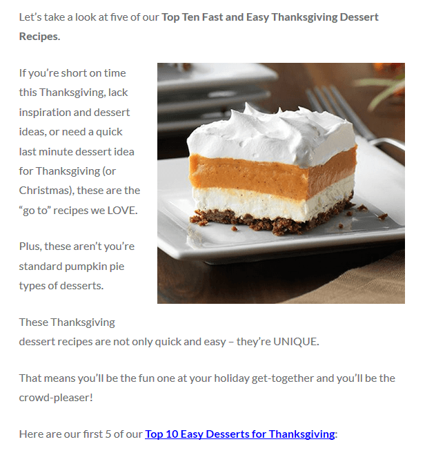 fast and EASY Thanksgiving desserts recipes and ideas