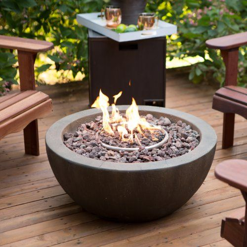 LOVE this patio fire bowl fire pit!