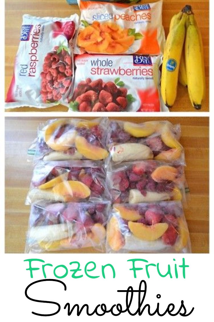 Frozen fruit smoothie recipes - how to make smoothies with frozen fruit