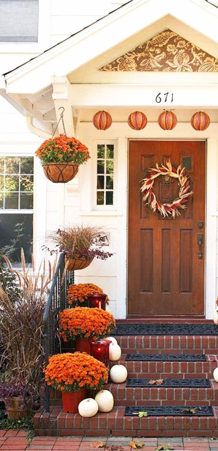 DIY fall front porch decor and decorating ideas for autumn