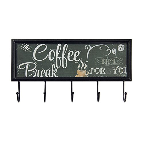 Xing Cheng Wall Art Coffee Bread Metal Wall Decorations With Hanger Ready To Hang For Home Decor
