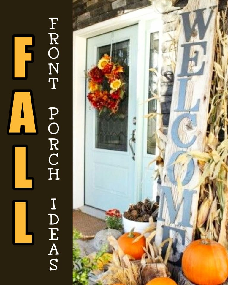 Fall Front Porch Decorating ideas on a Budget - Fall Decorating Ideas for Outside patio, small front porch, doorstep decor and more simple fall porch decor ideas