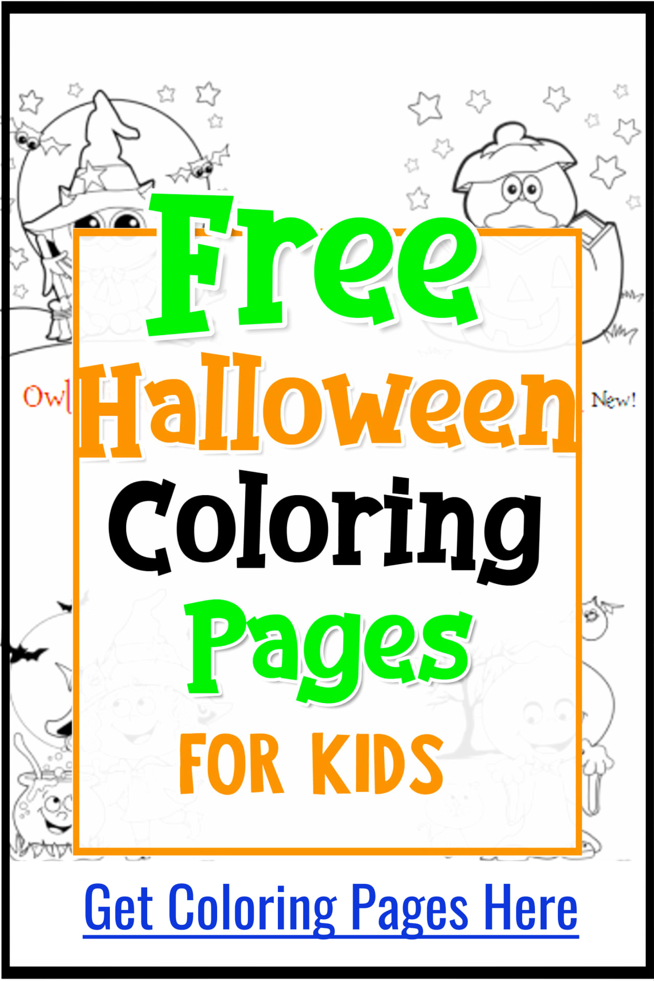 Halloween Crafts!  Free Halloween Coloring Pages and Printables for Toddlers and Preschool