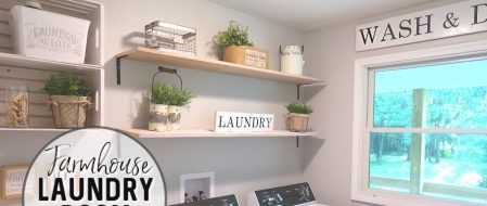 Small Laundry Room Ideas in Rustic & Modern Farmhouse Style