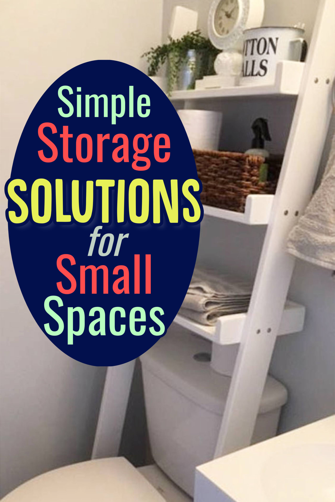 Storage and organization hacks for getting organized at home on a budget - Get organized at home with these creative storage solutions for small spaces in your bedroom, tiny apartment, little flat, small kitchen, living room, bathroom and more for making the most of small spaces for serious clutter control.  Go from cluttered mess to organized success when uncluttering your home!