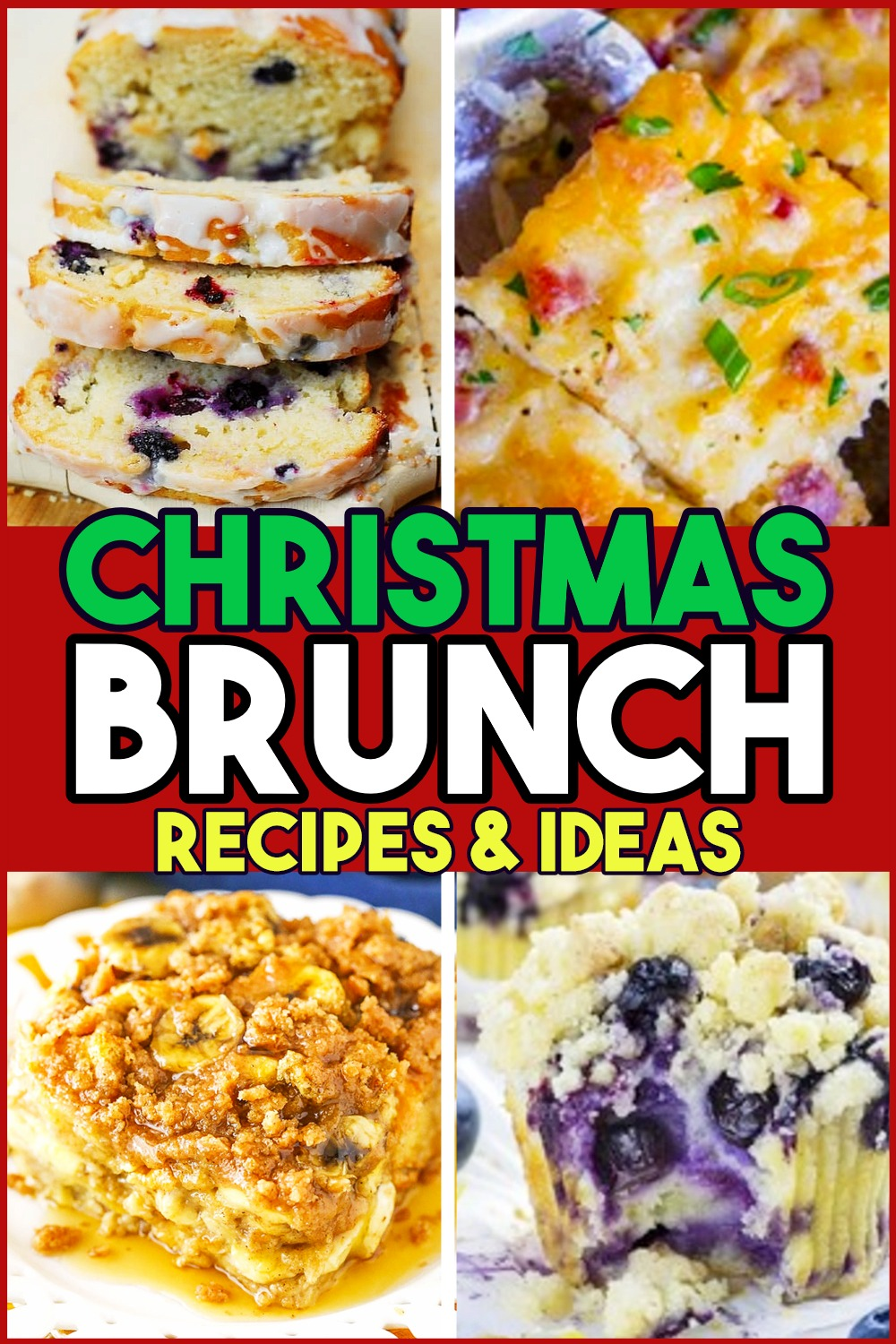 Christmas Brunch Ideas! Make Ahead Breakfast Casseroles and More Easy Recipes for a Budget Christmas Brunch Party - yummy and easy overnight breakfast casserole recipes (can even freeze in the freezer) - breakfast casserole make ahead easy recipes, brunch muffins & more easy breakfast ideas for Christmas morning, holiday brunch party or potluck to enjoy sweet breakfast recipes like desserts for non breakfast eaters and weekend guests