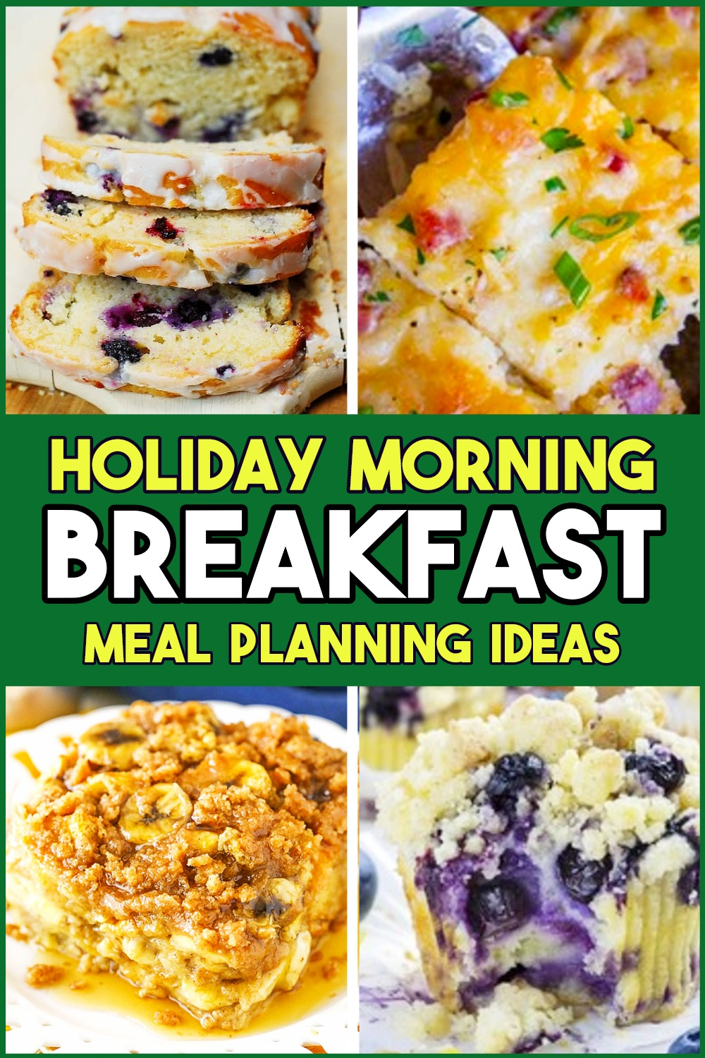 Holiday breakfast ideas - meal planning Holiday morning breakfast recipes - Holiday brunch party food, breakfast ideas for a crowd, breakfast casserole to make ahead, breakfast party food for a crowd and Christmas brunch ideas for a crowd or large group.  Sweet Christmas morning breakfast recipes that taste like desserts for food ideas for holidays and overnight guests