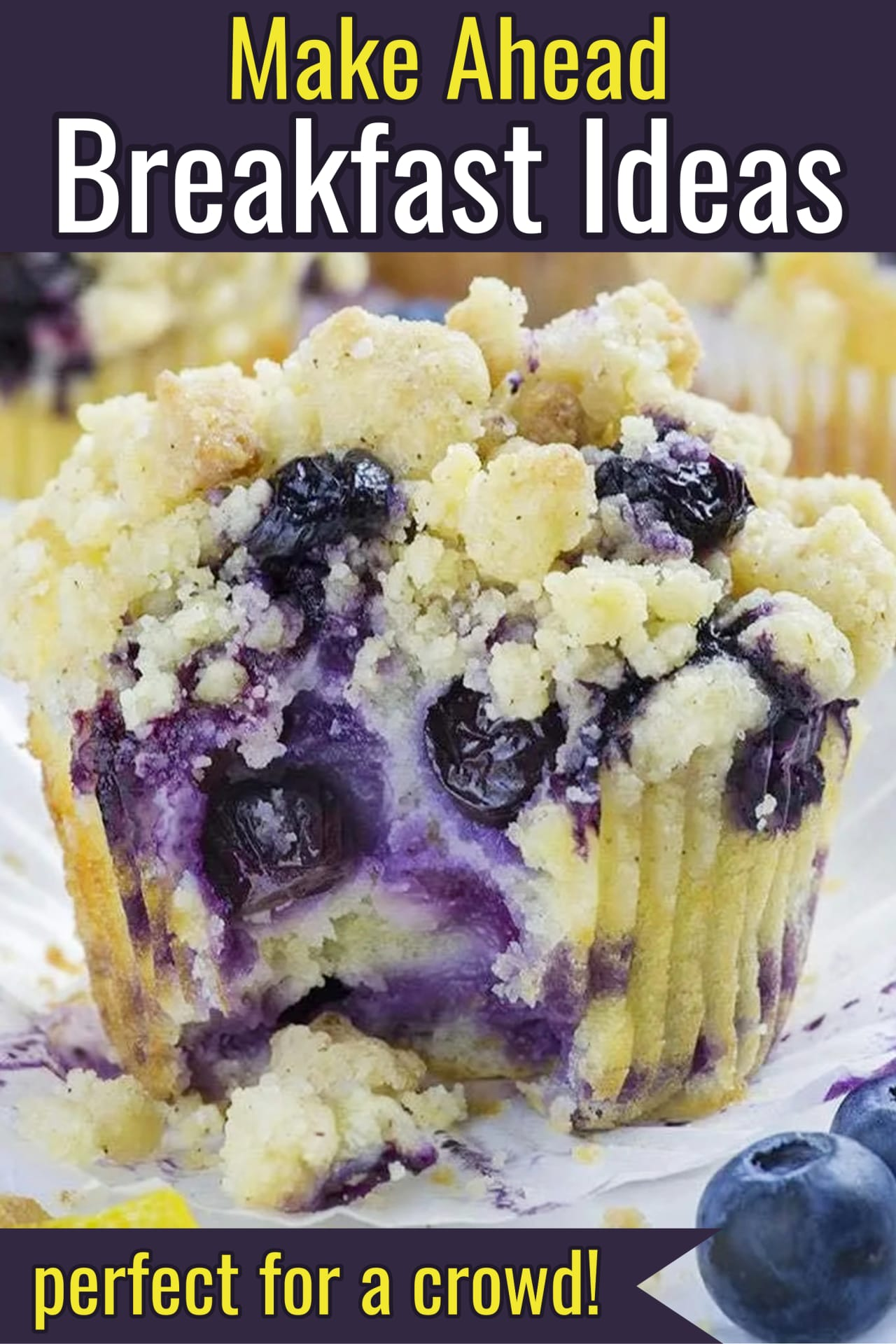 Breakfast ideas!  Easy make ahead breakfast recipes and brunch food ideas - simple breakfast food you can make the night before or freeze for later, take a look at these simple and yummy make ahead breakfast casseroles, bundt cakes, muffins and more below. They are sure to be crowd pleasers whether it's for Christmas morning breakfast, weekend guests, or for your busy family