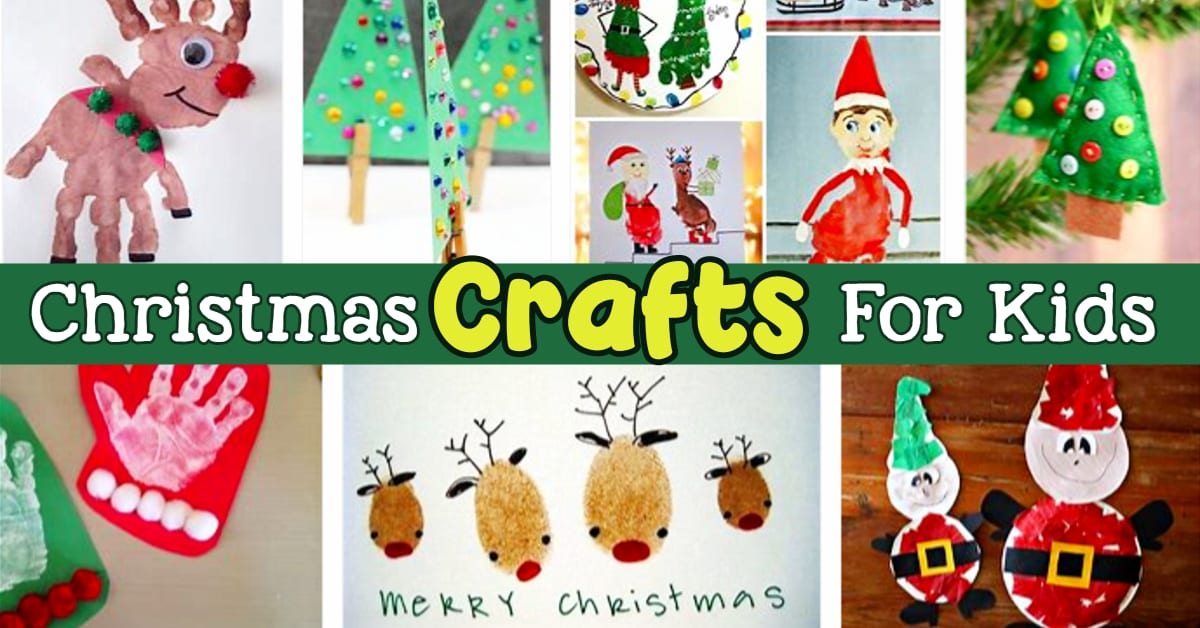 Christmas Crafts For Kids - 10 Best Christmas Crafts For Kids and Kid Made Gifts for Christmas.  Super Simple Christmas Crafts For Preschoolers and Easy Christmas Art For Kids To Make At Home Or School