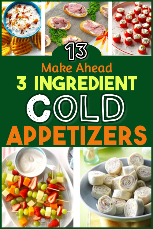 Easy Cold Appetizers to Make Ahead or Last Minute - 3 ingredient cold appetizers & cold dip recipes for a crowd.  Easy potluck appetizers cold finger food buffet ideas & NO COOK cold finger food buffet ideas travel well, look elegant & are the best appetizers to bring to a party, as cold buffet party food ideas for adults or as potluck appetizer ideas for work. Need party buffet ideas on a budget? Try these cheap and quick potluck ideas! Fast easy recipes with few ingredients.