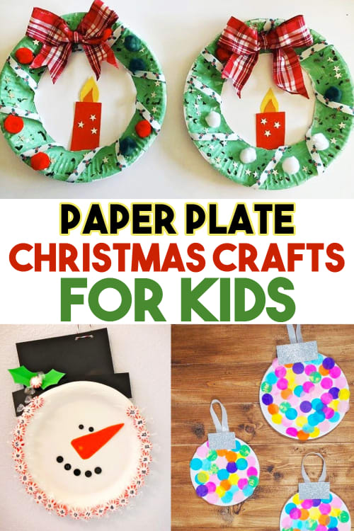 Christmas Crafts For Kids!  Paper Plate Crafts for Christmas For Toddlers and Kids to Make at Home, Classroom or Sunday School