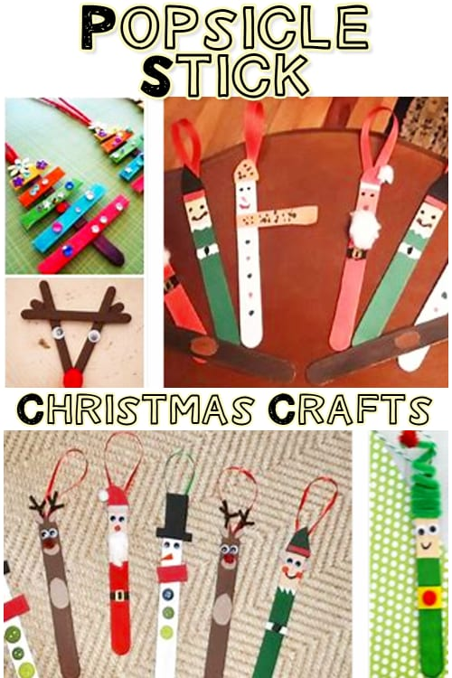 Popsicle Stick Crafts For Kids and Christmas Popsicle Stick Crafts for Toddlers - see lots more Christmas Crafts for Kids Here
