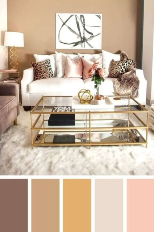 Living room ideas!  Redecorating your living room or need some fixer upper living room ideas?  Look at these comfy living room ideas in warm colors - so cozy AND with a romantic touch with the pops of color accents
