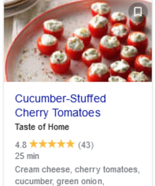 Cold Appetizers - easy 3 ingredient cold appetizers - cucumber stuffed cherry tomatoes