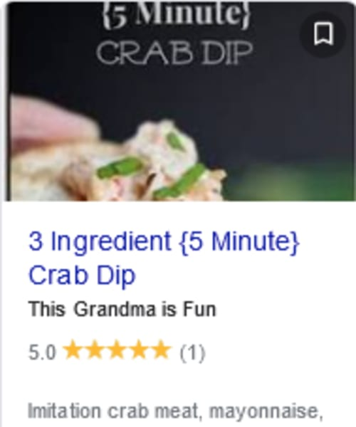 Easy Cold Appetizers - 3 ingredient cold crab dip ready in 5 minutes or make ahead for a crowd or potluck
