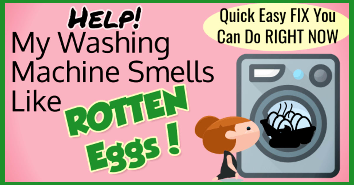 Smelly Washing Machine? If your washer smells like sewage, mold or rotten eggs - or your laundry room has a mildewy musty smell, here's how to fix a smelly washing machine the easy way