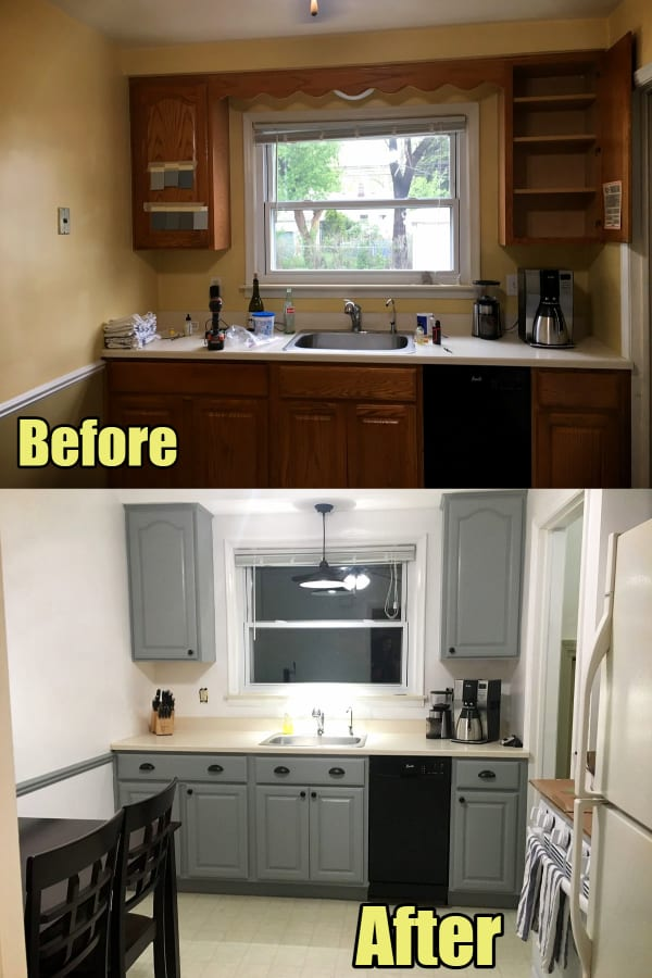 Small kitchen ideas on a budget - before and after budget small kitchen remodel