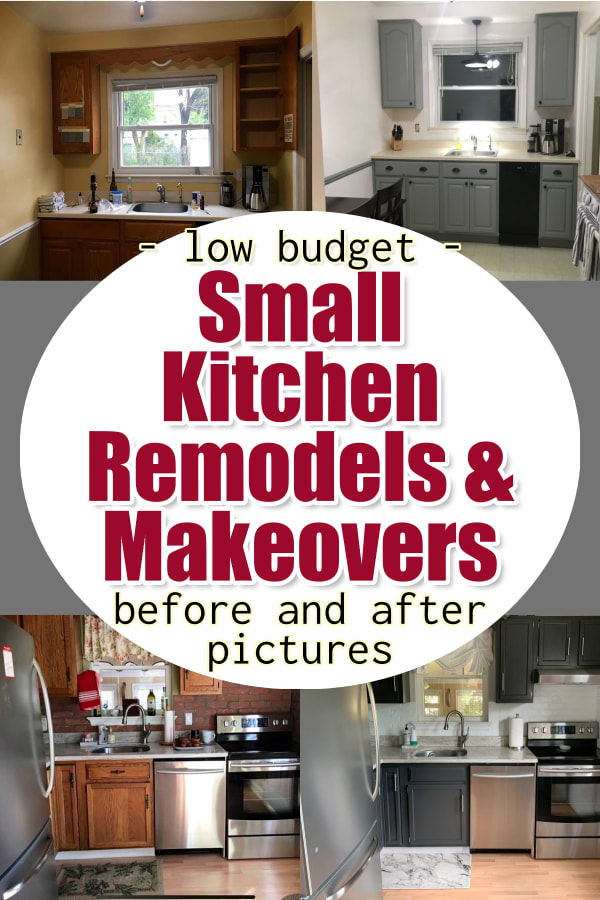small kitchen remodel ideas - before and after budget small kitchen remodel pictures for a cheap DIY kitchen remodel in your tiny kitchen