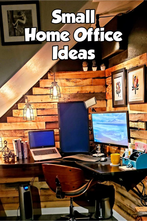 Small Home Office Ideas - Ideas for an aesthetic home office in living room, bedroom, dining room or corner when you have NO space - very small home office ideas on a budget for her and for him