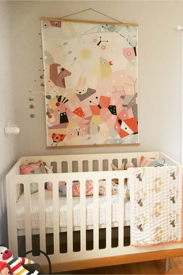 Woodland nursery decor ideas for baby girl - modern woodland animals nursery decorating ideas in pinks and pastels and neutrals